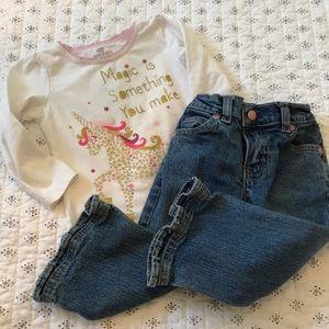 Other - Okie Dokie Unicorn Sparkle Top with Jeans